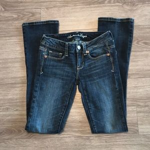 2/$40 American Eagle stretch jeans size 00 regular